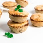 British pork pies stacked on top of each other