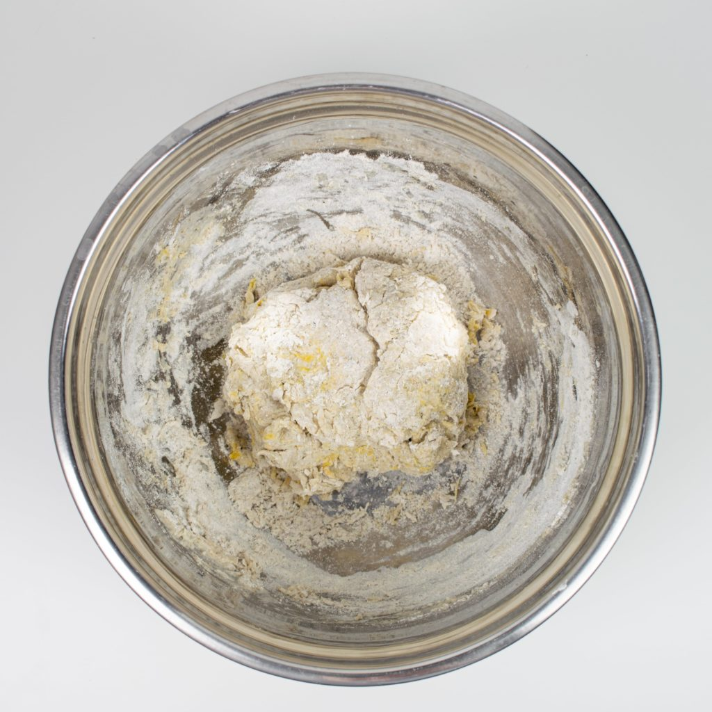 Dough combined in bowl