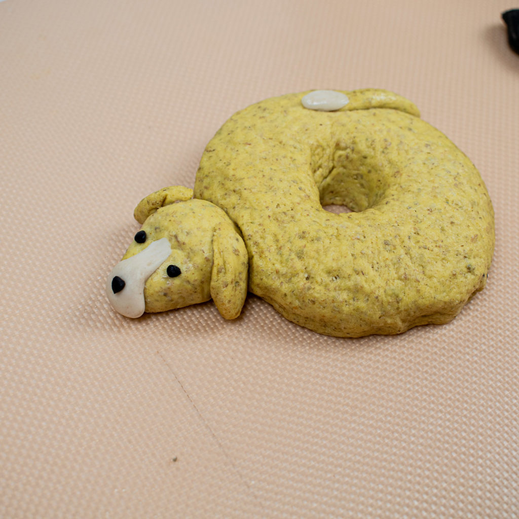 Attach the head to bagel