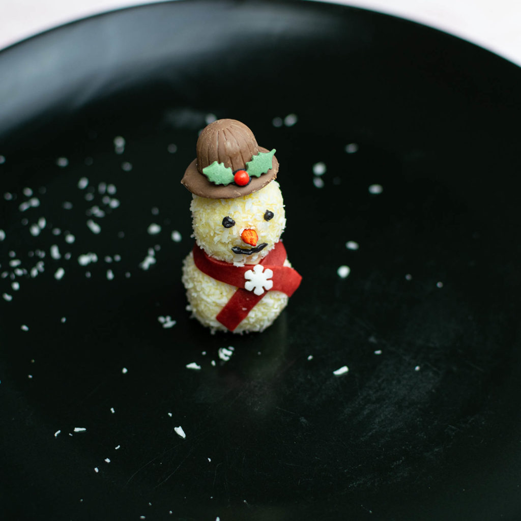 Snowman with chocolate hat