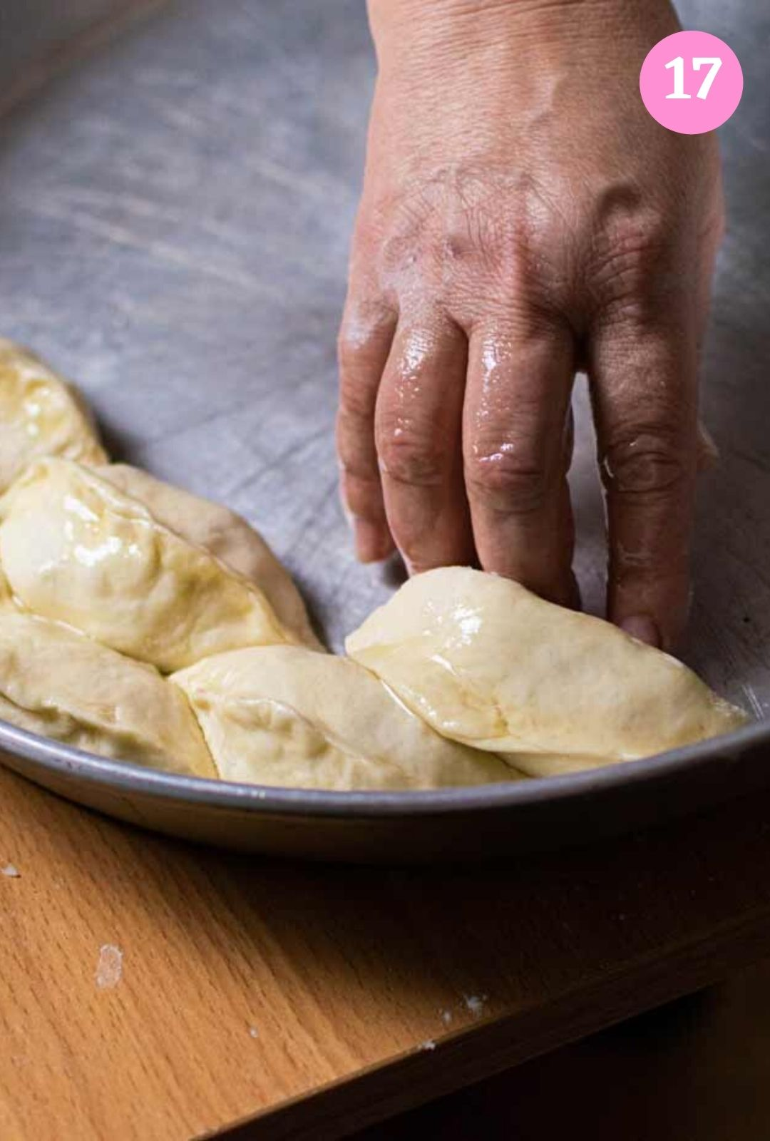 Putting hand pies inside tray