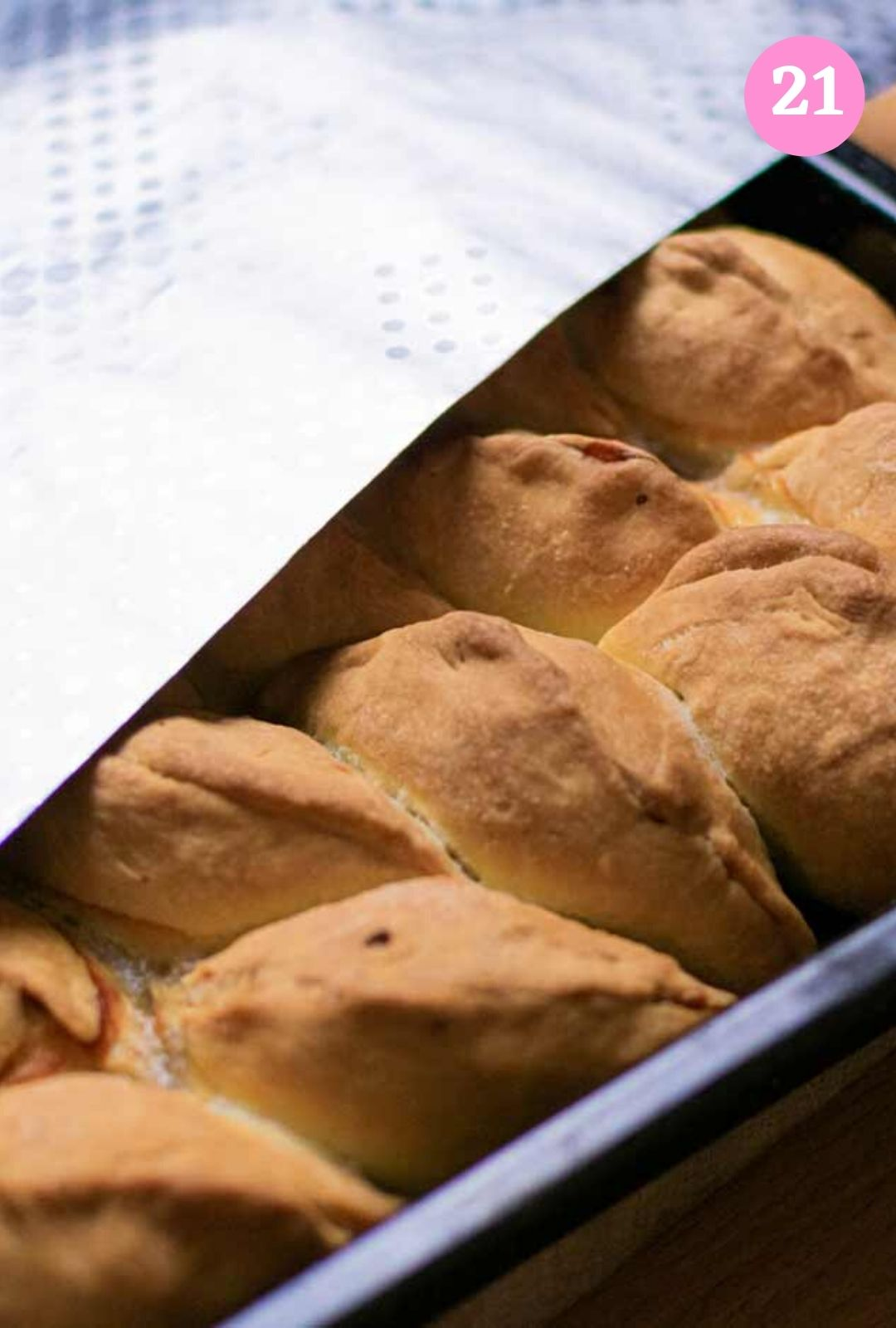 Cover meat hand pies with aluminium foil after baking
