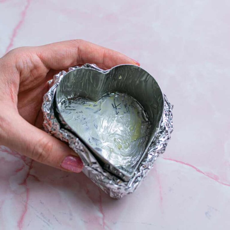 Heart ring greased with butter